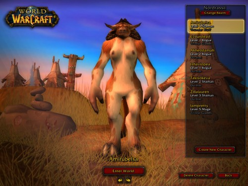 World of Warcraft Nude Modded Feamle Tauren