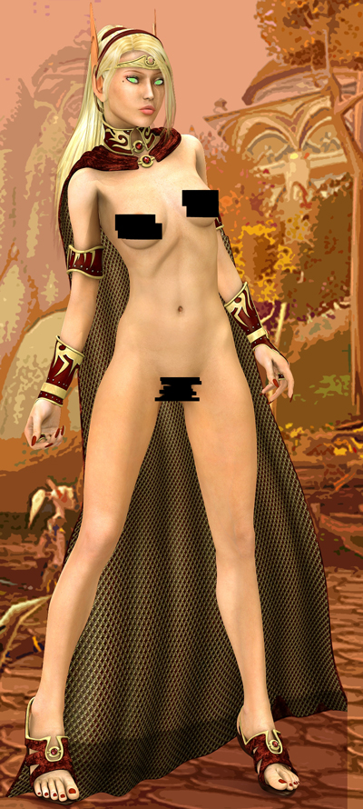 World of Warcraft Nude Female Art Work