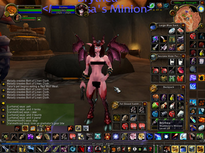 Nude WoW Minion. Here is a female Warlock Minion modded with the nude patch.