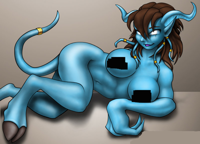 World of Warcraft Nude Draenei Girl